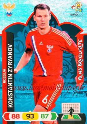 Panini Euro 2012 Cards Adrenalyn XL - N° 272 - Konstantin ZYRYANOV (Russie) (Fans' Favourite)