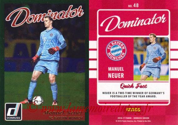 2016 - Panini Donruss Cards - N° D48 - Manuel NEUER (FC Bayern Munich) (Dominator)