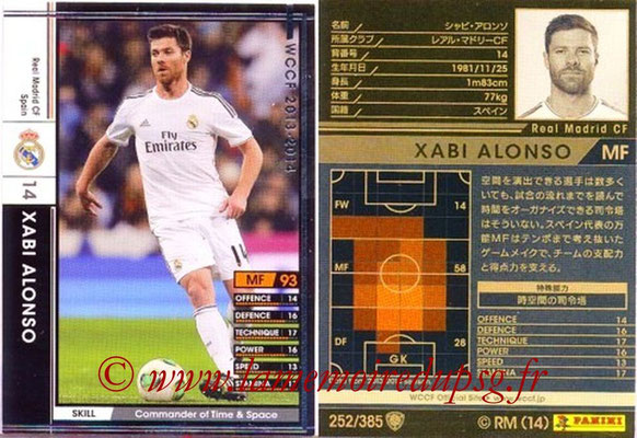 2013-14 - WCCF - N° 252 - Xabi ALONSO (Real Madrid CF)