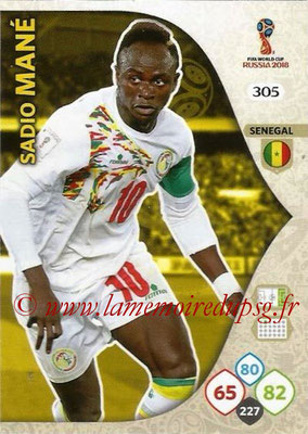 2018 - Panini FIFA World Cup Russia Adrenalyn XL - N° 305 - Sadio MANE (Senegal)