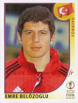 2002 - Panini FIFA World Cup Stickers - N° 199 - Emre BELOZOGLU (Turquie)