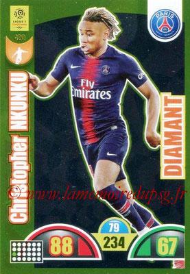 2018-19 - Panini Adrenalyn XL Ligue 1 - N° 420 - Christopher NKUNKU (Paris Saint-Germain) (Diamant)