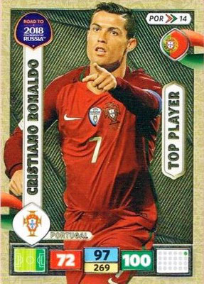 2018 - Panini Road to FIFA World Cup Russia Adrenalyn XL - N° POR14 - Cristiano RONALDO (Portugal) (Top Player)