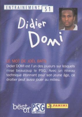 N° 051 - Didier DOMI (Verso)