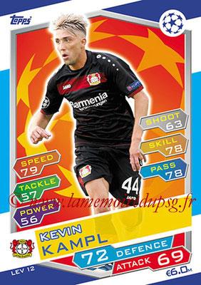 2016-17 - Topps UEFA Champions League Match Attax - N° LEV12 - Kevin KAMPL (Bayer 04 Leverkusen)