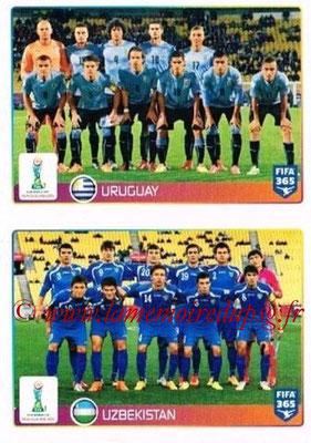 2015-16 - Panini FIFA 365 Stickers - N° 045-046 - Uruguay + Ouzbekistan (FIFA U20 World Cup)