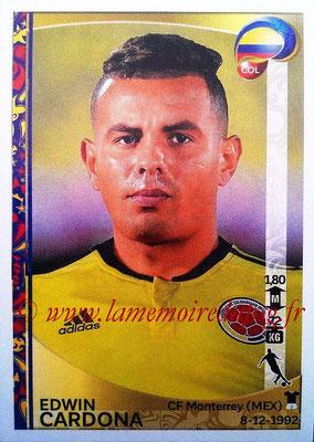 Panini Copa America Centenario USA 2016 Stickers - N° 055 - Edwin CARDONA (Colombie)