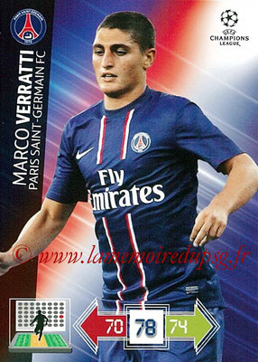 2012-13 - Adrenalyn XL champions League N° 209 - Marco VERRATTI (Paris Saint-Germain)