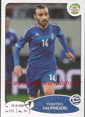 2014 - Panini Road to FIFA World Cup Brazil Stickers - N° 283 - Dimitris SALPINGIDIS (Grèce)