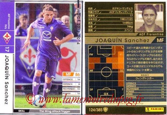 2013-14 - WCCF - N° 124 - Joaquin SANCHEZ (ACF Fiorentina)