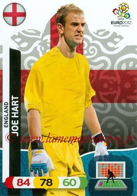 Panini Euro 2012 Cards Adrenalyn XL - N° 043 - Joe HART (Angleterre)