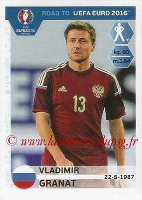 Panini Road to Euro 2016 Stickers - N° 260 - Vladimir GRANAT (Russie)
