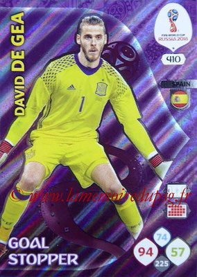 2018 - Panini FIFA World Cup Russia Adrenalyn XL - N° 410 - David DE GEA (Espagne) (Goal Stopper)