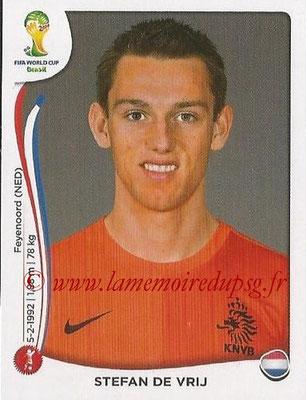 2014 - Panini FIFA World Cup Brazil Stickers - N° 131 - Stefan DE VRIJ (Pays-Bas)
