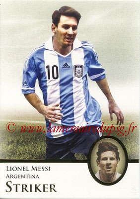 2013 - Futera World Football Unique - N° 125 - Lionel MESSI (Argentine) (Striker) (Master)