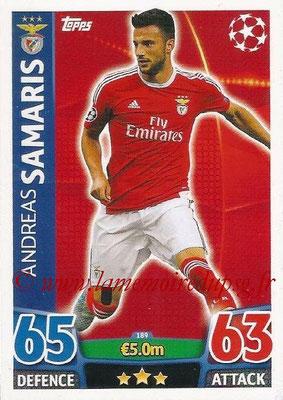 2015-16 - Topps UEFA Champions League Match Attax - N° 189 - Andreas SAMARIS (SL Benfica)