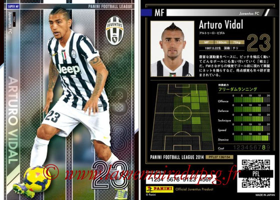 Panini Football League 2014 - PFL07 - N° 136 - Arturo VIDAL (Juventus FC) (Super MF)