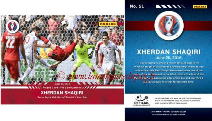 Panini Instant Euro 2016 - N° 051 - Xherdan SHAQIRI