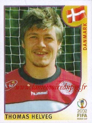 2002 - Panini FIFA World Cup Stickers - N° 086 - Thomas HELVEG (Danemark)