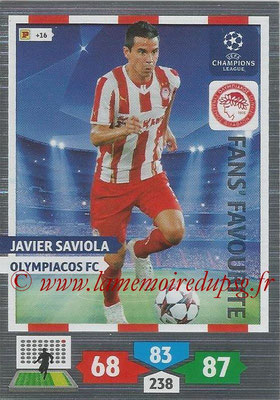 2013-14 - Adrenalyn XL champions League N° 309 - Javier SAVIOLA (Olympiacos FC) (Fans' Favourite)