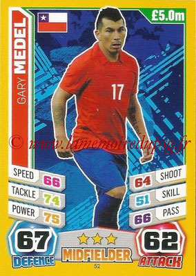 Topps Match Attax England 2014 - N° 052 - Gary MEDEL (Chili)