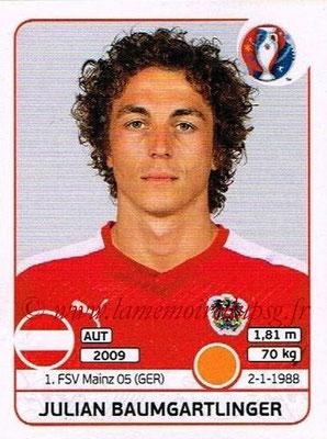 Panini Euro 2016 Stickers - N° 639 - Julian BAUMGARTLINGER (Autriche)