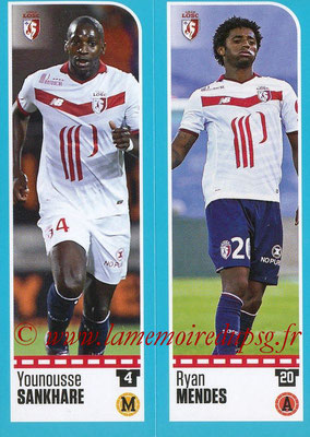 2016-17 - Panini Ligue 1 Stickers - N° 268 + 269 - Younousse SANKHARE + Ryan MENDES (Lille)