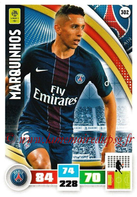 2016-17 - Panini Adrenalyn XL Ligue 1 - N° 302 - MARQUINHOS (Paris Saint-Germain)