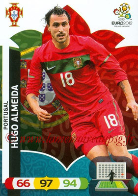 Panini Euro 2012 Cards Adrenalyn XL - N° 177 - Hugo ALMEIDA (Portugal)
