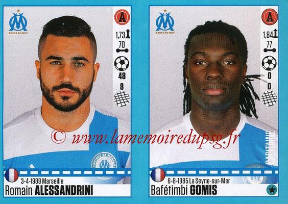 2016-17 - Panini Ligue 1 Stickers - N° 416 + 417 - Romain ALESSANDRINI + Bafétimbi GOMIS (Marseille)