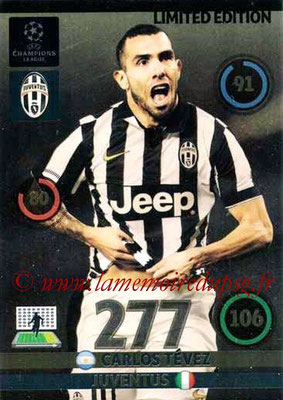 2014-15 - Adrenalyn XL champions League Update edition N° LEU-CT - Carlos TEVEZ (Juventus FC) (Limited Edition)