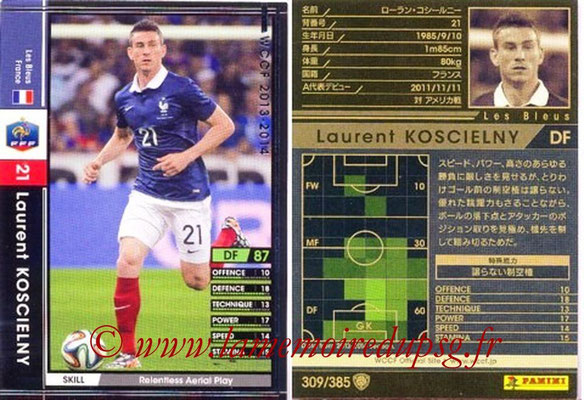 2013-14 - WCCF - N° 309 - Laurent KOSCIELNY (France)