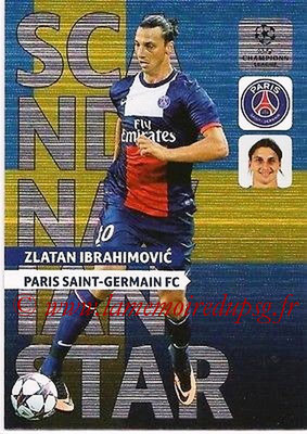 2013-14 - Adrenalyn XL champions League N° NE05 - Zlatan IBRAHIMOVIC (Paris Saint-Germain) (Scandinavian Star) (Nordic edition)