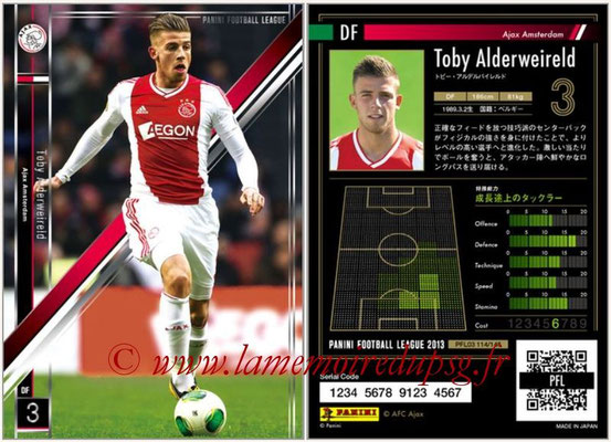 Panini Football League 2013 - PFL03 - N° 114 - Toby Alderweireld (Ajax Amsterdam)