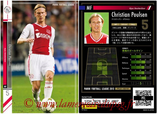 Panini Football League 2013 - PFL01 - N° 160 - Christian Poulsen ( Ajax Amsterdam )