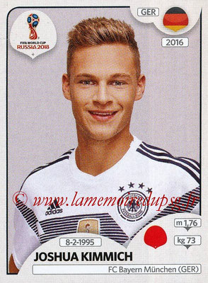 2018 - Panini FIFA World Cup Russia Stickers - N° 438 - Joshua KIMMICH (Allemagne)