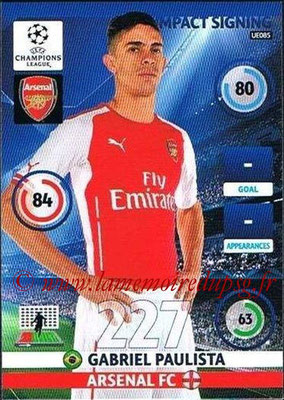 2014-15 - Adrenalyn XL champions League Update edition N° UE085 - Gabriel PAULISTA (Arsenal FC) (Impact Signing)