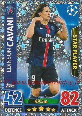 2015-16 - Topps UEFA Champions League Match Attax - N° 070 - Edinson CAVANI (Paris Saint-Germain) (Star Player)