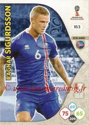 2018 - Panini FIFA World Cup Russia Adrenalyn XL - N° 183 - Ragnar SIGURDSSON (Islande)