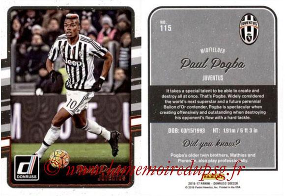 2016 - Panini Donruss Cards - N° 115 - Paul POGBA (Juventus FC)