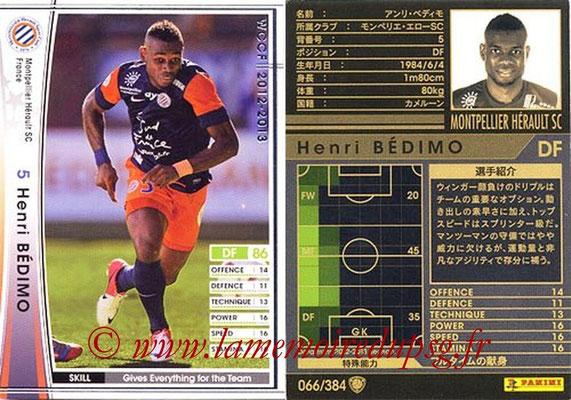 2012-13 - WCCF - N° 066 - Henri BEDIMO (Montpellier Hérault SC)