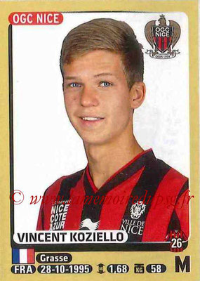 2015-16 - Panini Ligue 1 Stickers - N° 325 - Vincent KOZIELLO (OGC Nice)