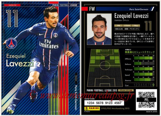 Panini Football League 2013 - PFL04 - N° 137 - Ezequiel LAVEZZI (Paris Saint-Germain) (Super FW)