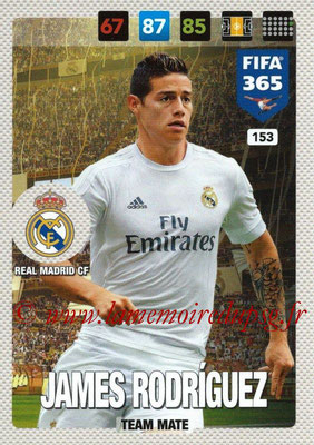 2016-17 - Panini Adrenalyn XL FIFA 365 - N° 153 - James RODRIGUEZ (Real Madrid CF)