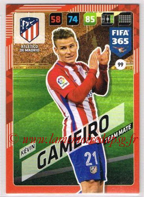 2017-18 - Panini FIFA 365 Cards - N° 099 - Kévin GAMEIRO (Atletico Madrid)
