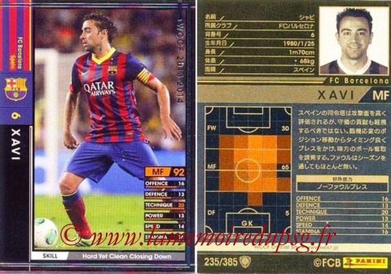2013-14 - WCCF - N° 235 - XAVI (FC Barcelone)