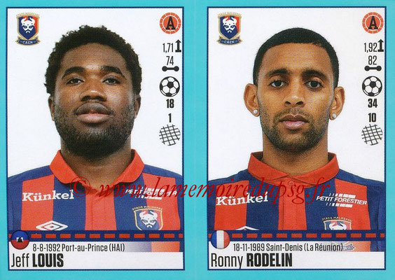 2016-17 - Panini Ligue 1 Stickers - N° 166 + 167 - Jeff LOUIS + Ronny RODELIN (Caen)