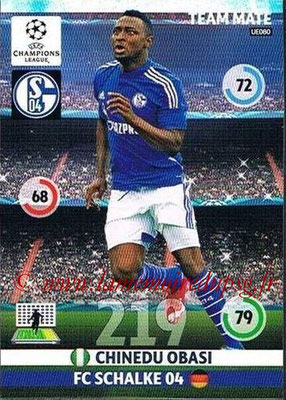 2014-15 - Adrenalyn XL champions League Update edition N° UE080 - Chinedu OBASI (FC Schalke 04)