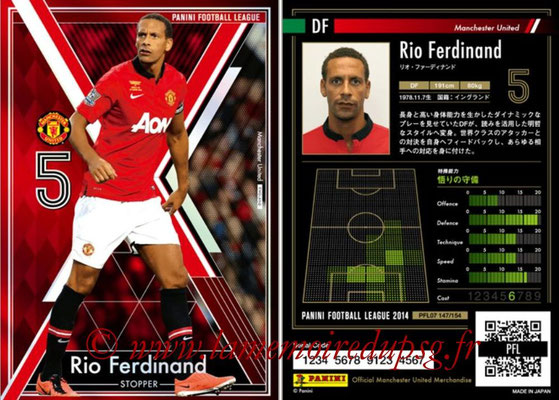 Panini Football League 2014 - PFL07 - N° 147 - Rio FERDINAND (Manchester United) (Stopper)