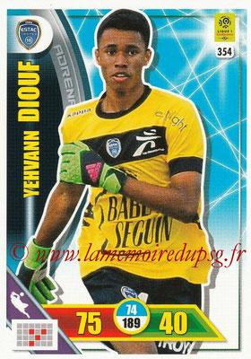 2017-18 - Panini Adrenalyn XL Ligue 1 - N° 354 - Yehvann DIOUF (Troyes)